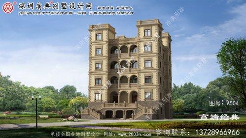 路桥区六层西式城堡平