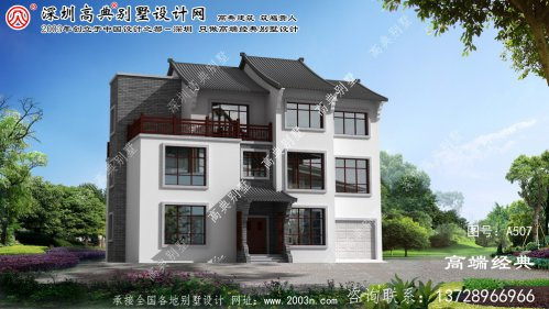 岱山县三层中式风格别墅