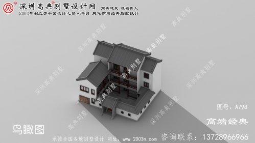 亳州市新中式自建三层庭院别墅设计图
