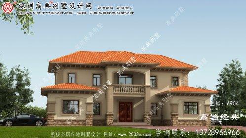 仙游县欧式石材农村别墅设计图纸