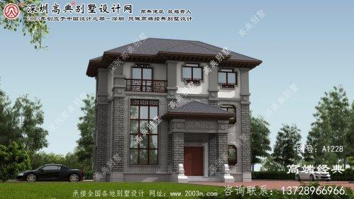 延庆县中式独栋别墅效果图