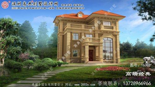 柳林县农村别墅院子设计效果图
