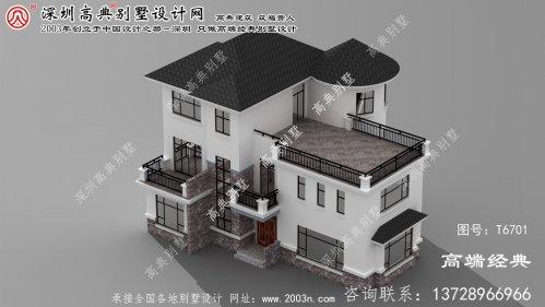 文水县农村三层小别墅设计图