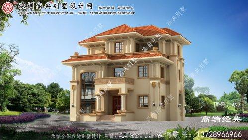 龙城区新农村自建房设计图三层