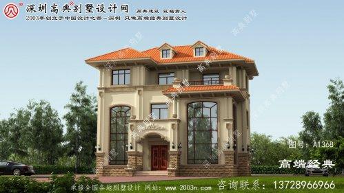 肇庆市别墅设计首层平面图