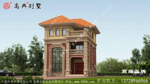 农村房屋三层设计效果图立面的层次感