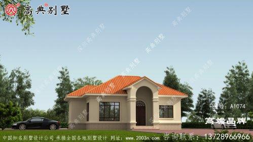 农村单层房屋外观图满足家庭居住需求