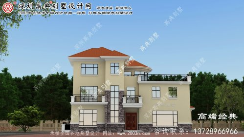 赤峰市最漂亮的三层独栋别墅,美观实