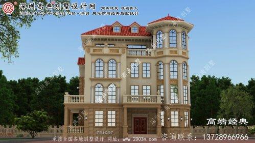 奈曼旗欧式三层别墅,外型美观上档次