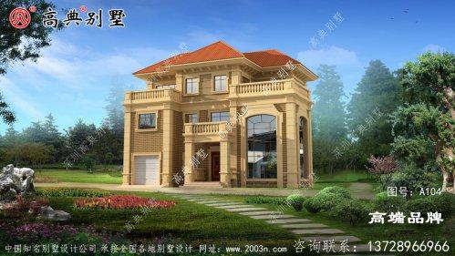 简欧三层别墅房屋设计图盖一栋圆了自