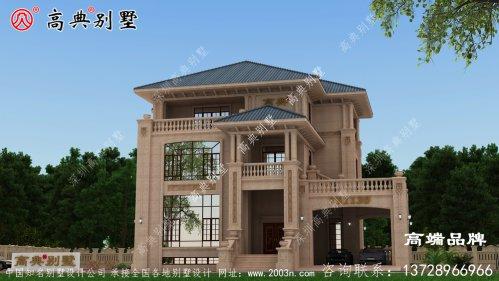 农村自建别墅设计图简约欧式带飘窗别