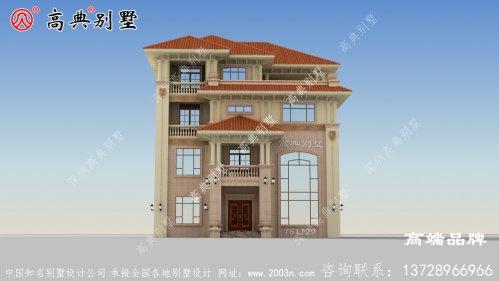 农村住宅四层设计图,三代堂都不拥挤