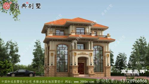 欧式独栋别墅外观效果图配双复式大厅