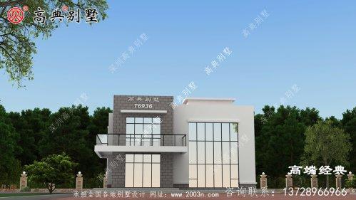 禹州市二层漂亮时尚平房住宅图片及户