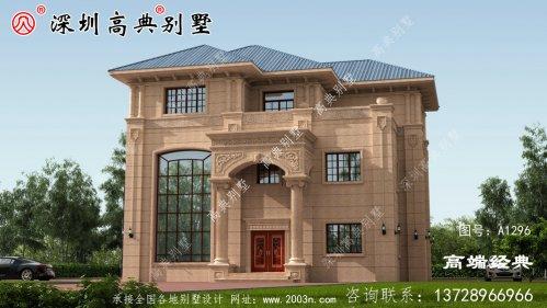 别墅设计图,造价50万,落地窗大平台真