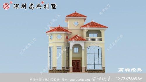 三层欧式别墅,房子这样建,让你在村