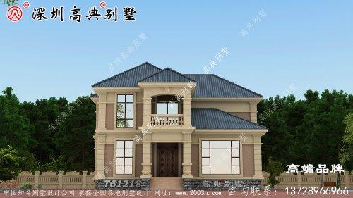 纯石材别墅设计图,整体构造时尚大气