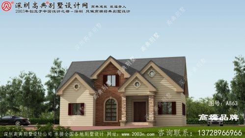 农村最新二层简单大气别墅图片,大气又