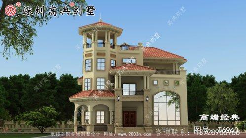 三层自建房实景图,看了别人家建的房子