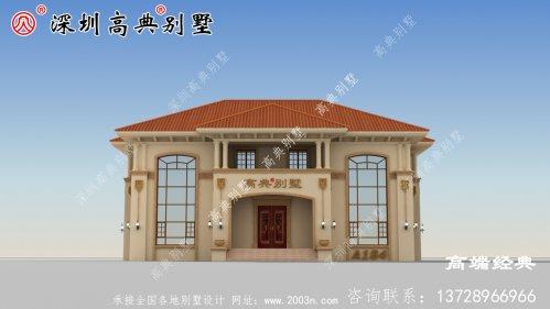 漂亮农村二层别墅设计图