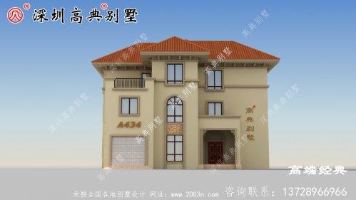 欧式三层豪华大气别墅,随便在村里建一