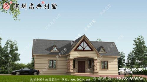 农村二层别墅,小户型也能盖出漂亮别墅