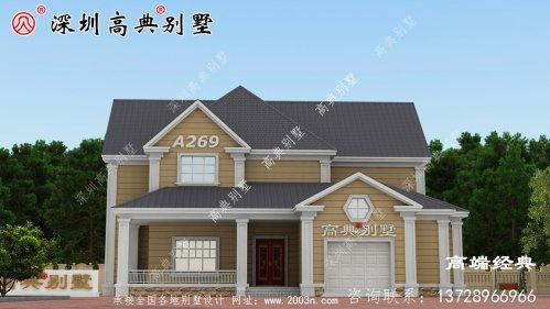 农村小别墅充满了家庭的温暖且外带车库