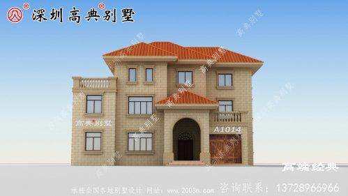 农村建房三层别墅简单美观,适合全家居