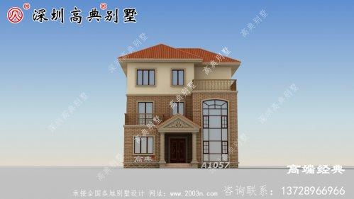 三层现代带阳台别墅图,完美的农村别墅