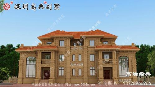 三层别墅大户型方案,有效果图和平面图