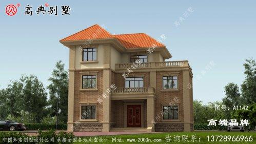 农村三层别墅设计图,经典大气,你绝对