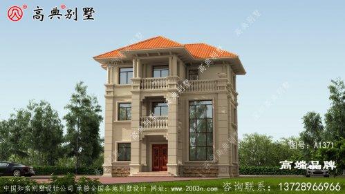 橘坡屋顶装饰罗马柱满满的欧式气息