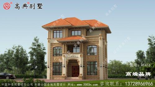 农村的自营住宅非常受欢迎,家家户户建