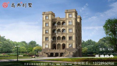 高层西式城堡别墅,有独立的储藏室和娱
