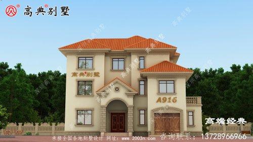 老家建一座别墅住宅,空气清新,享受那