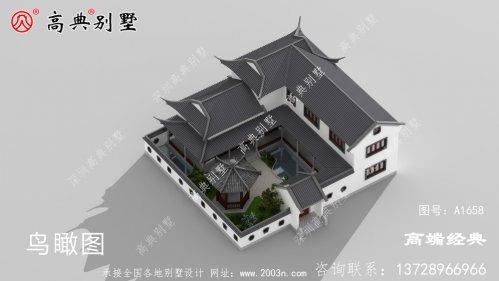 盖一栋中国最美中式庭院别墅,享受田园
