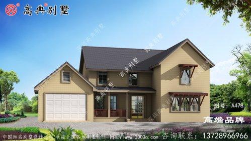 农村自建二层斜顶别墅设计图纸,新颖大